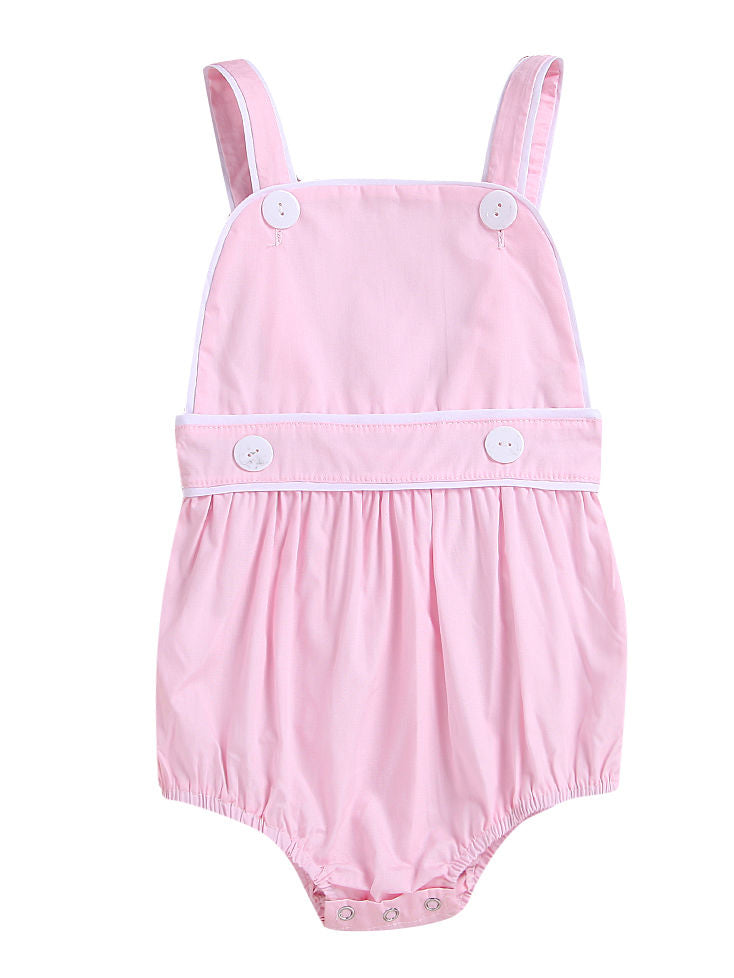 Toddler Kids Suspender Blue/Pink Romper
