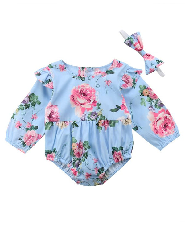 Infant Girl Bodysuit with Headband