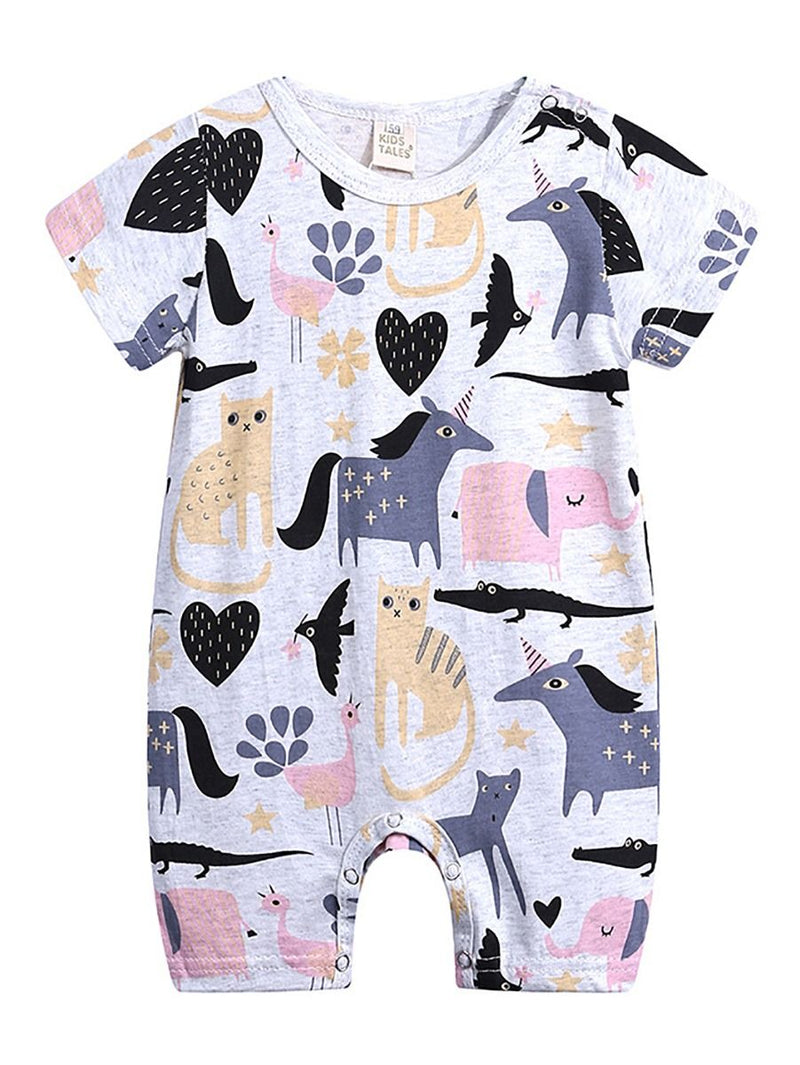 Summer Cute Onesie Newborn Baby Cartoon Bodysuit Romper