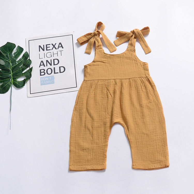 Baby Girl Sleeveless Suspender Pants Trousers Infant Overalls Jumpsuit