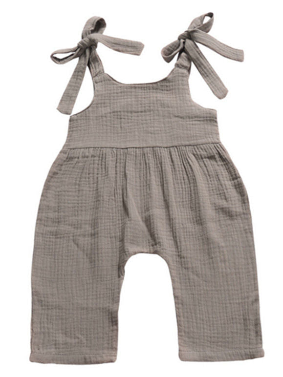 Gray Overalls Jumpsuit