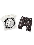 Lion Print T-shirt + Pants