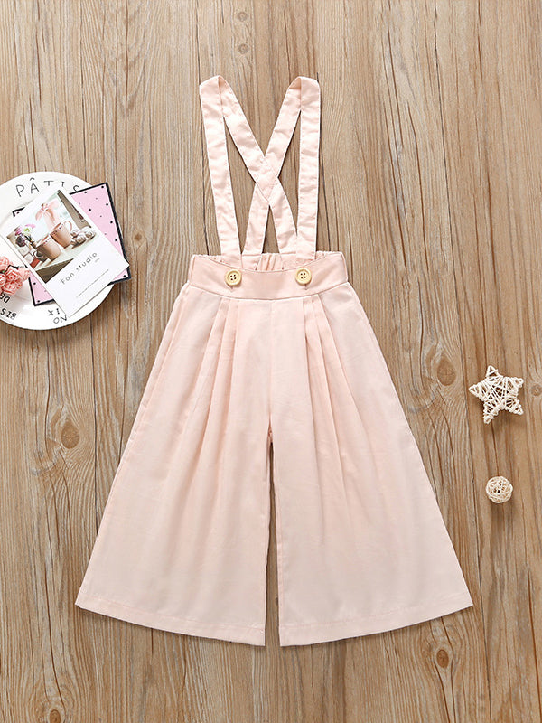 Suspender Loose Pants