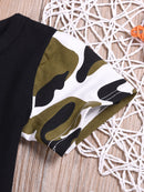 2-Piece Clothing Outfits The Chosen One Short-sleeved T-shirt+Camouflage Trousers Baby Boys