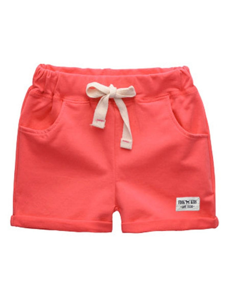 Little Boy Summer Shorts-Red