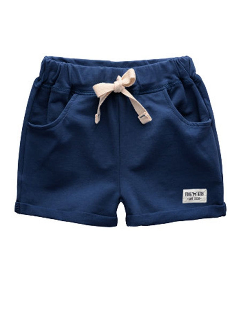 Little Boy Summer Shorts-Deepblue