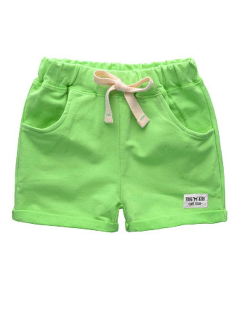 Summer Solid Color Shorts-Green