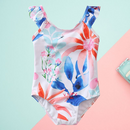 Toddler Girl One Piece Flower Bathing Suit