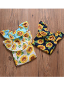 Sunflower Romper Print Off Shoulder Summer Baby Girl Sunsuit Clothes