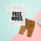 FREE HUGS Letters Print T-shirt and Pull-on Pants 2-Piece Infant Little Boy Outfits