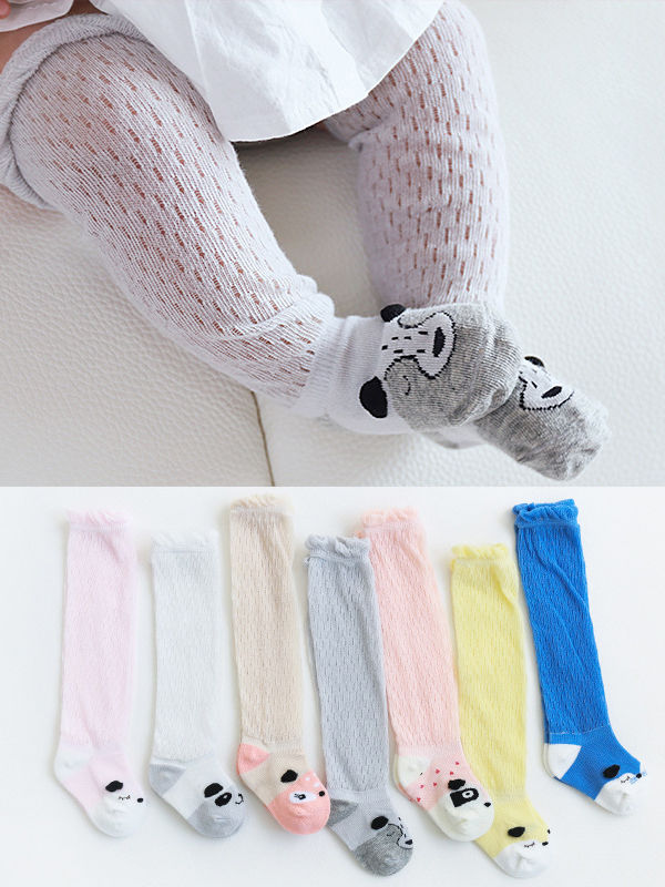 5-PACK Cute Cartoon Animal Mesh Knee High Socks