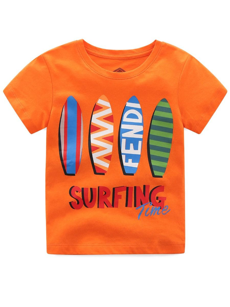 Toddler Little Boy T-shirt-orange