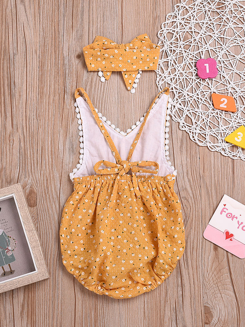 Bodysuit Matching Bow Headband back
