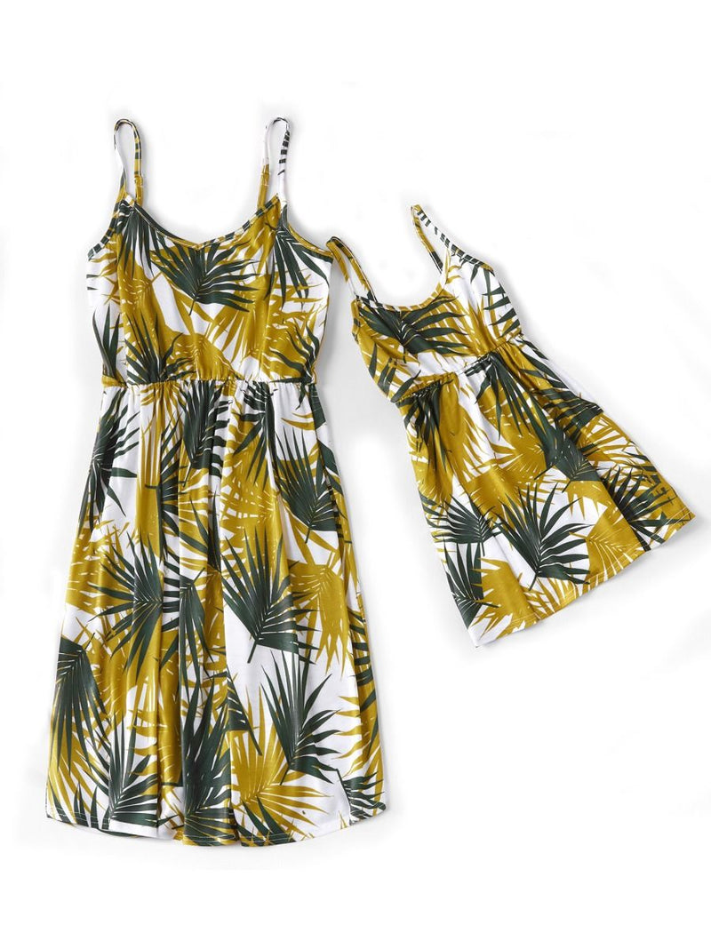 Mommy and Me Plant Printed Sundress
