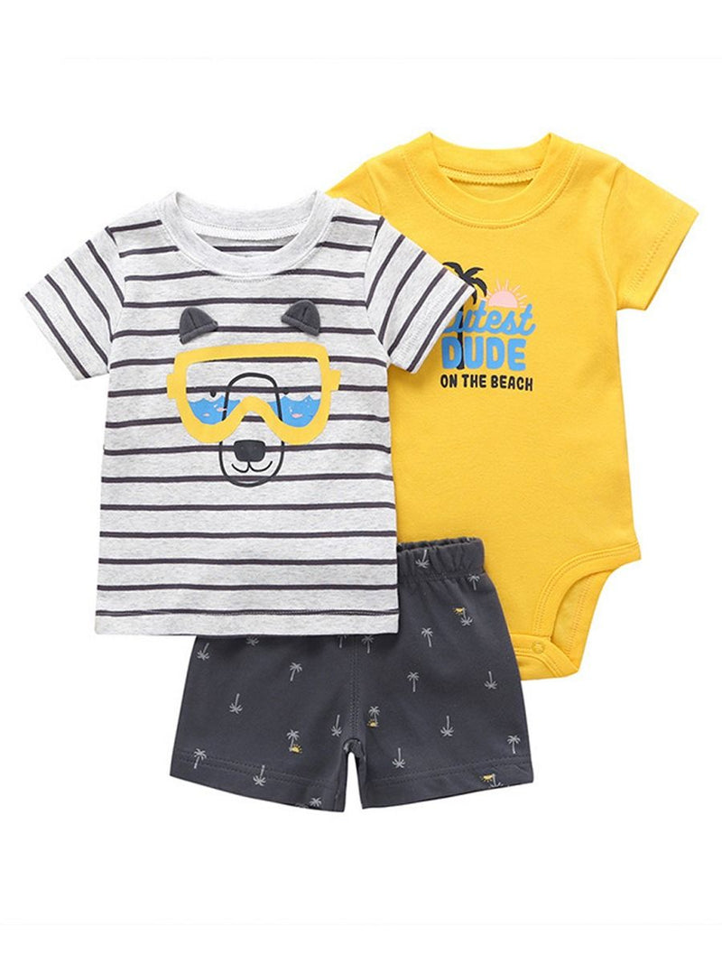 Baby Boys Cartoon Printed Set-Pattern 1