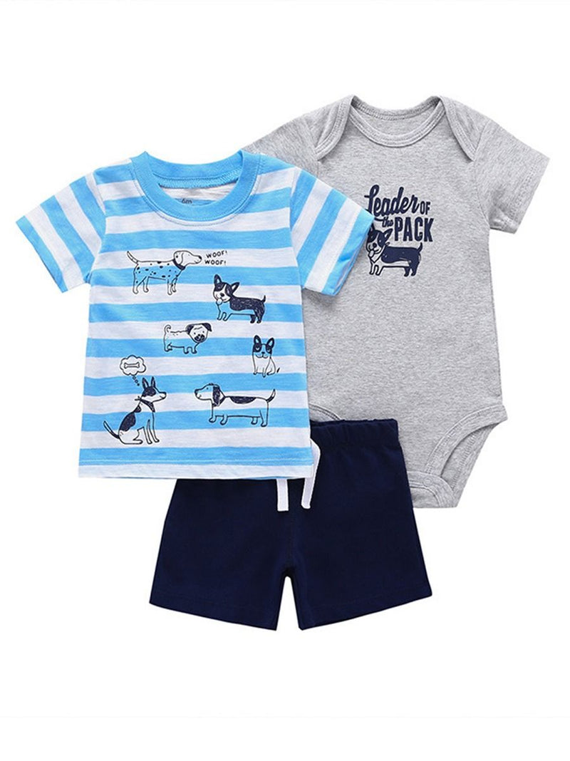 Baby Boys Cartoon Printed Set-Pattern 2