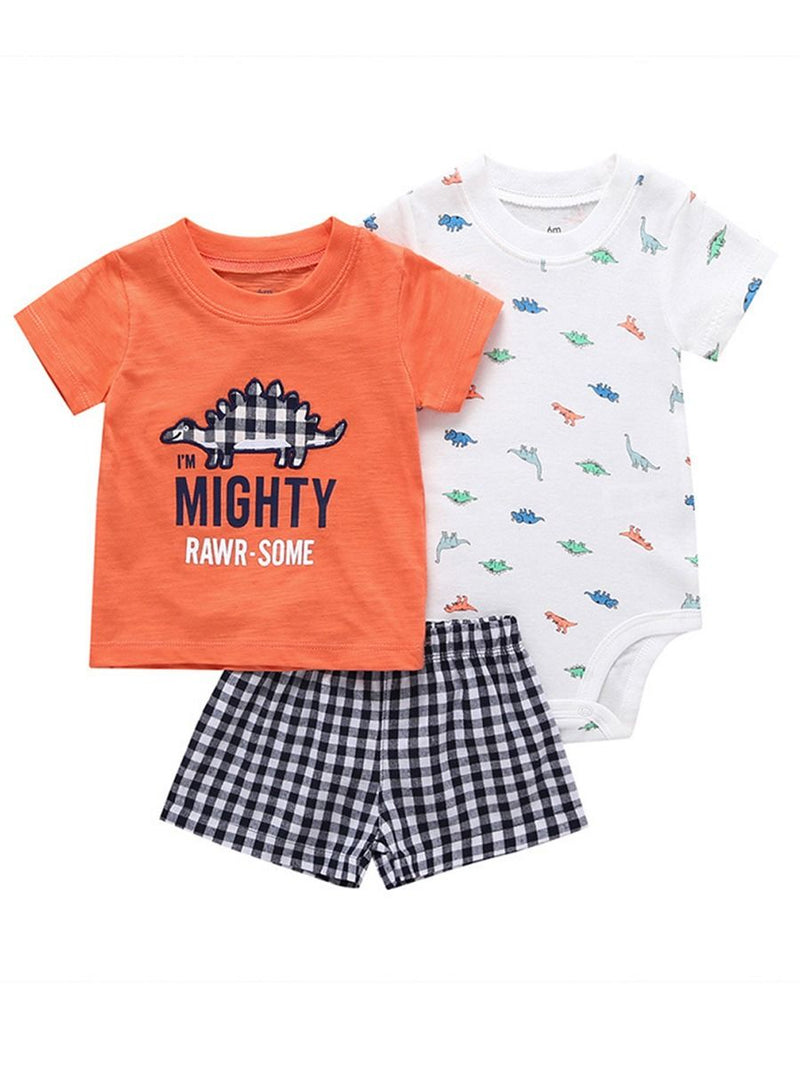 Baby Boys Cartoon Printed Set-Pattern 3