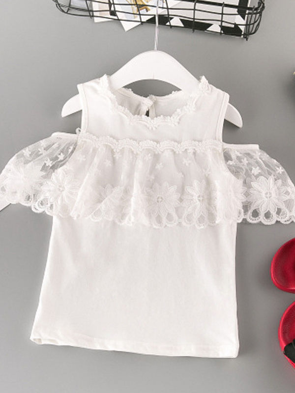 Flower Lace Off Shoudler Top