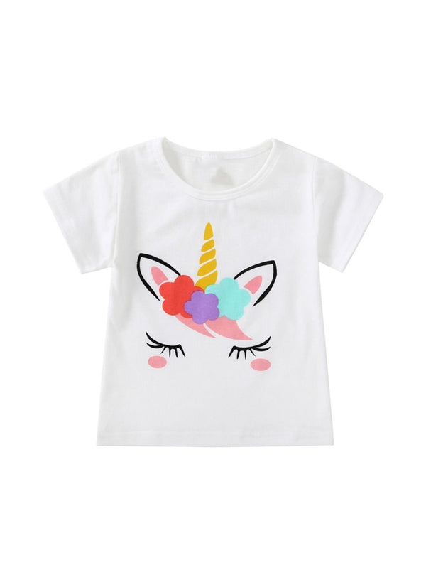 Unicorn T-shirt For Baby Toddler Girls
