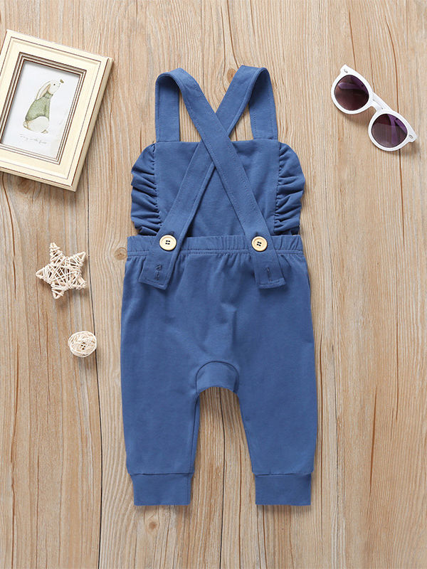 Fashion Baby Girl Ruffle Jumpsuit