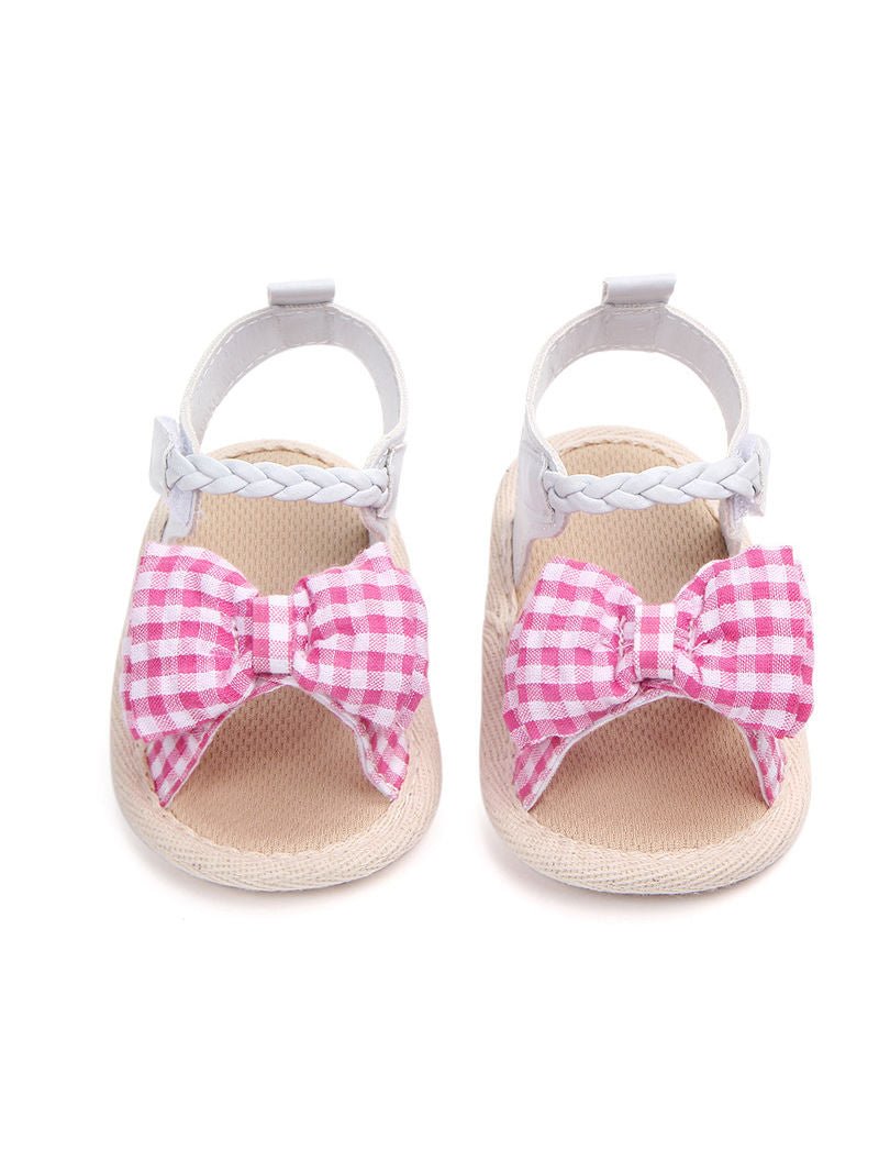 Solid Color Baby Sandals -Pink