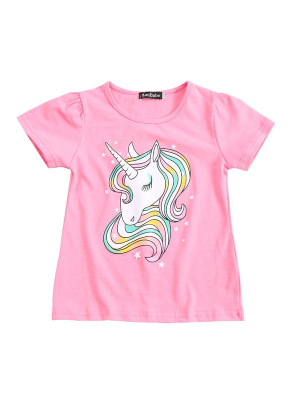 Rainbow Unicorn Style T-shirt