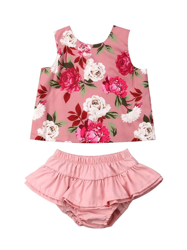 2-Piece Outfit For Baby Toddler Girls