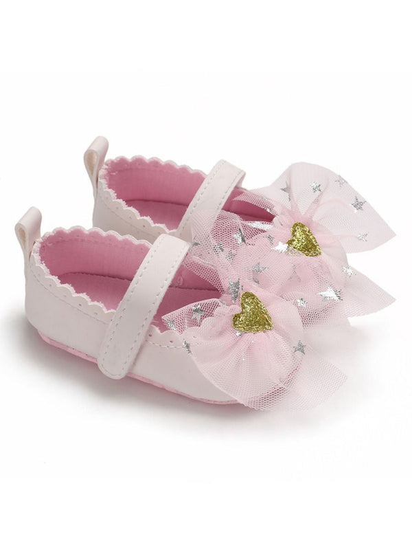 T-bar Bow Princess Crib Shoes