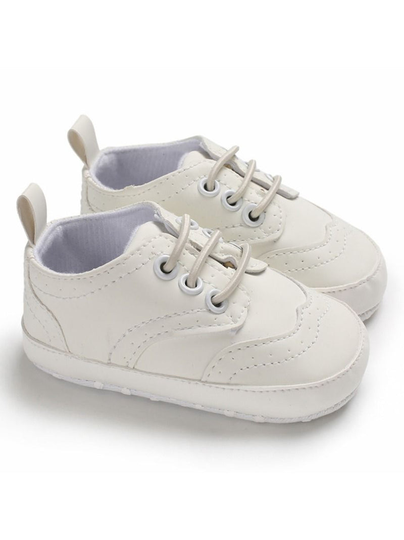 Solid Color Crib Shoes - white