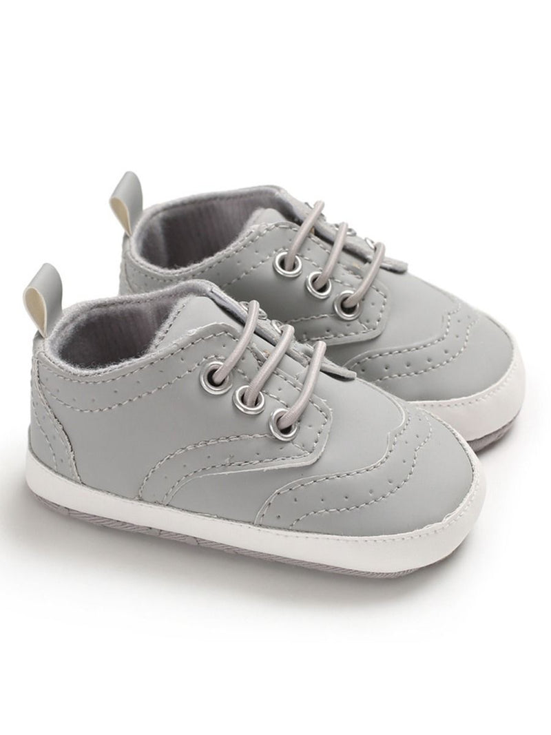 Solid Color Crib Shoes - Gray