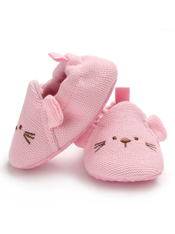 Cute Animal Style Knit Baby Shoes