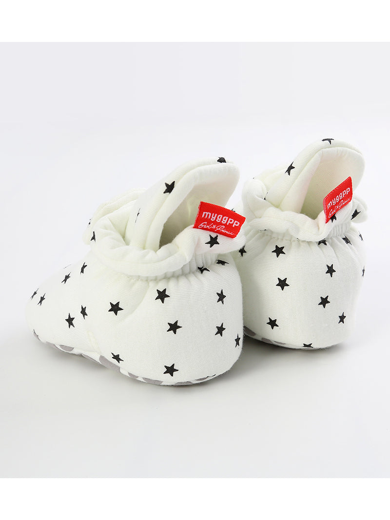 Infant Baby Star Pattern Velcro First Start Crib Shoes