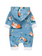Adorable Baby Fox Hooded Jumpsuit