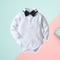2-Piece Baby Boy White Bodysuit Matching Bow Tie