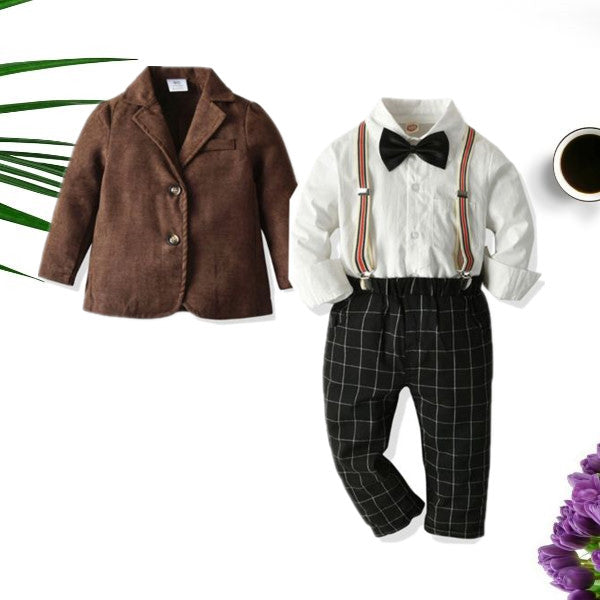 5-Piece Fashion Toddler Boy Gentleman Party Wear Outfits