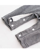 Fashion Infant Baby Boy 2-Sets Party Suits Gift Box Gray/Deepblue