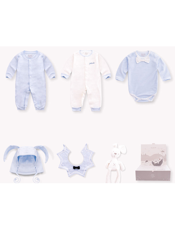 6PCS Adorable Newborn Baby Angle Bunny Rabbit Gift Boxed Outfits