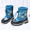 Cool Big Boy Waterproof Faux Fur Lined Snow Boots Blue/Light Blue moon boots