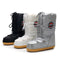 Stylish Big Kids Adult Waterproof Lace-up Snow Boots White/Silver/Black