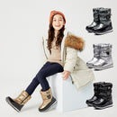 Family Matching Big Kids Waterproof Drawstring High-top Snow Boots moon boots 4-color