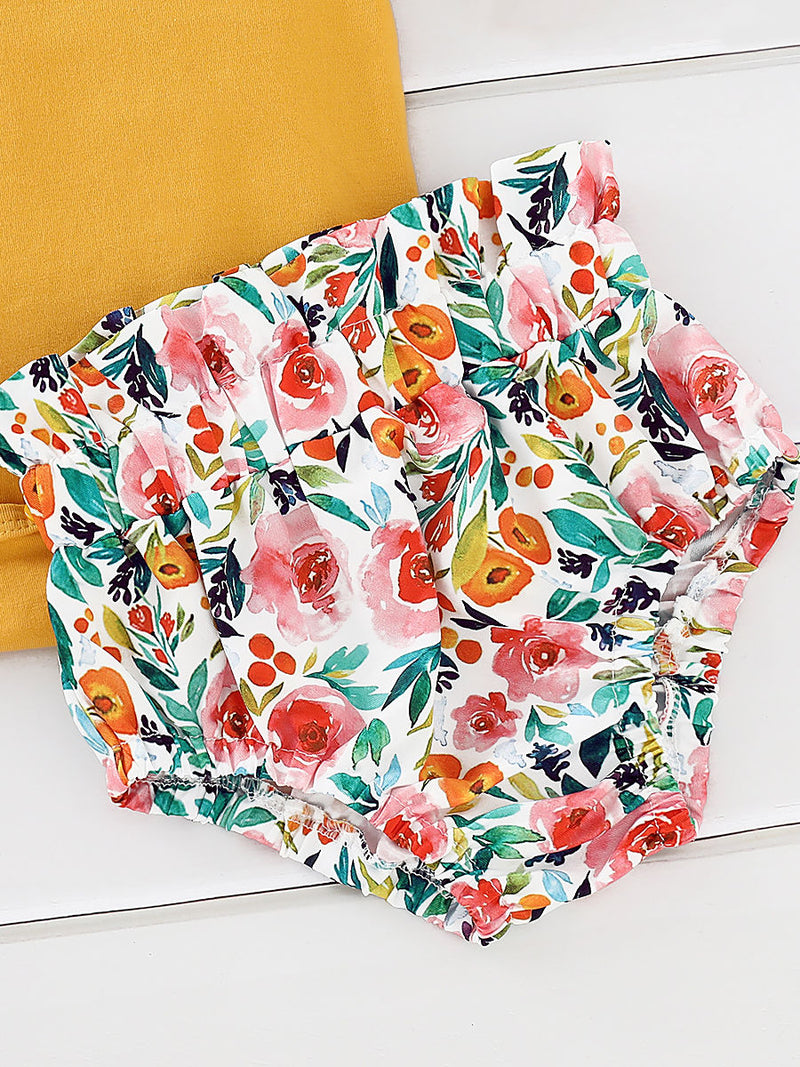 Frilled Flower Shorts