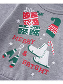2-Piece Christmas Set Baby Toddler Kids Top & Checked Pants