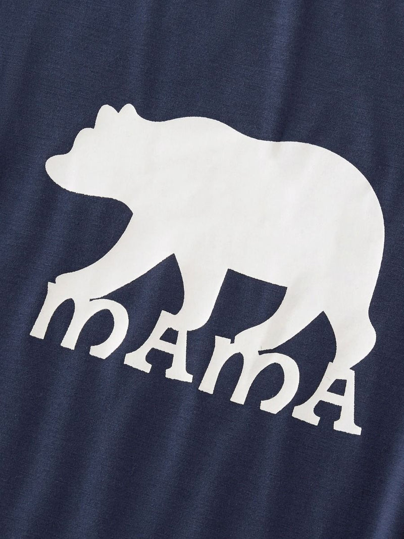 2-Piece Family Matching Bear Blue Homewear