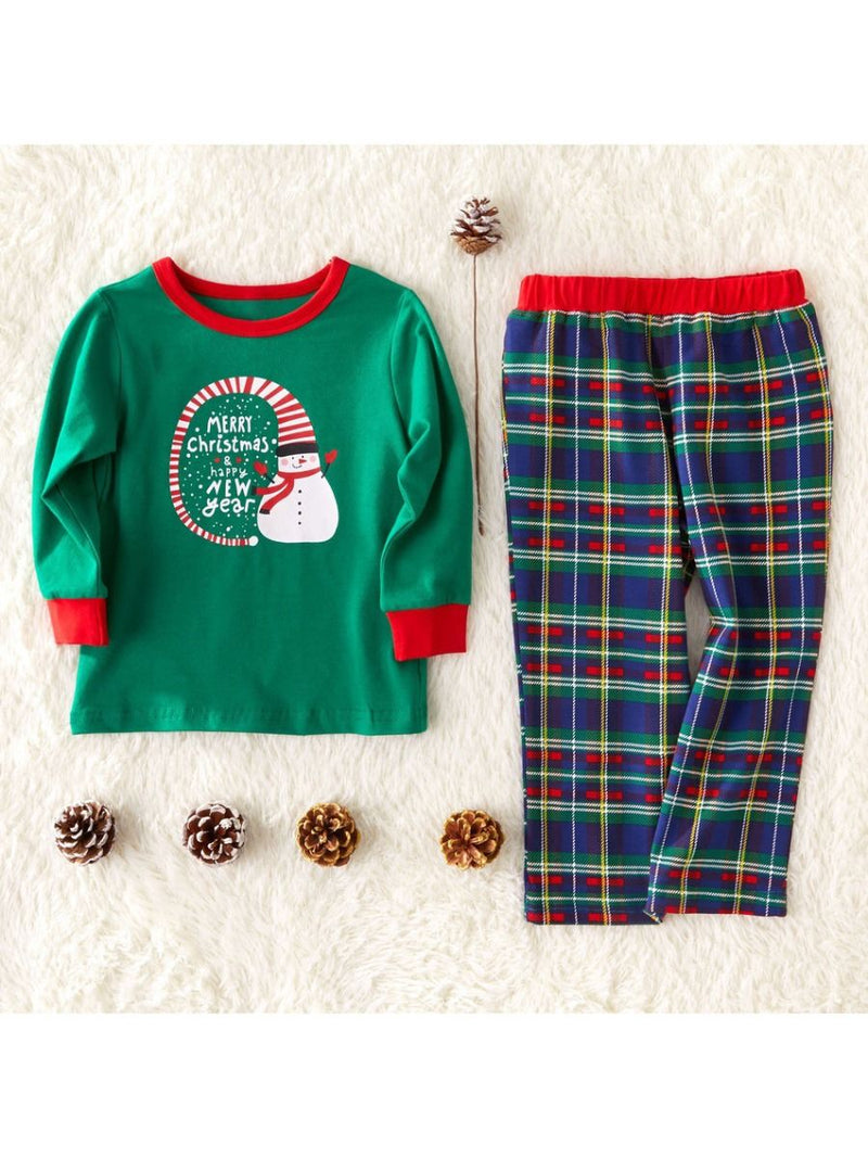 2-Piece Family Sets Merry Christmas & Happy New Year Leisure Wear