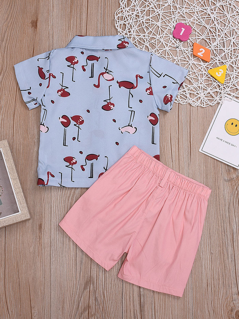2-Piece Flamingo Outfit