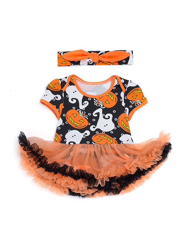 Halloween Theme Romper Dress