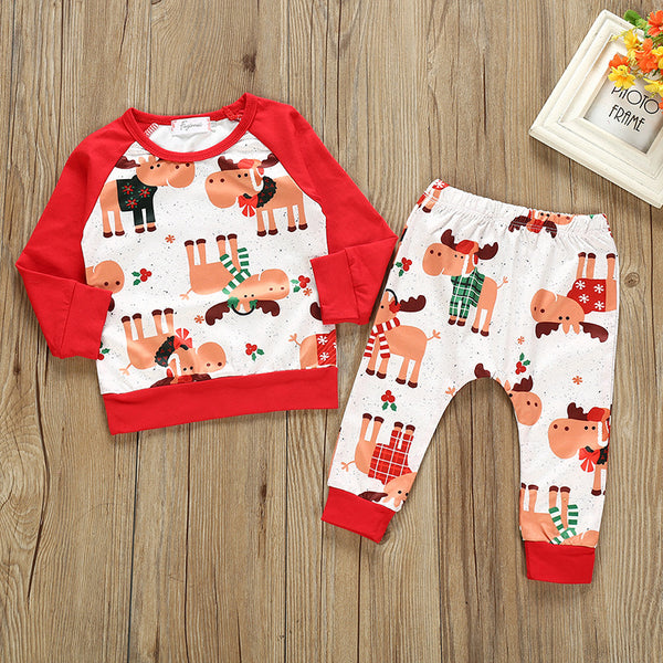 2-Piece Baby Christmas Outfit Top & Pants