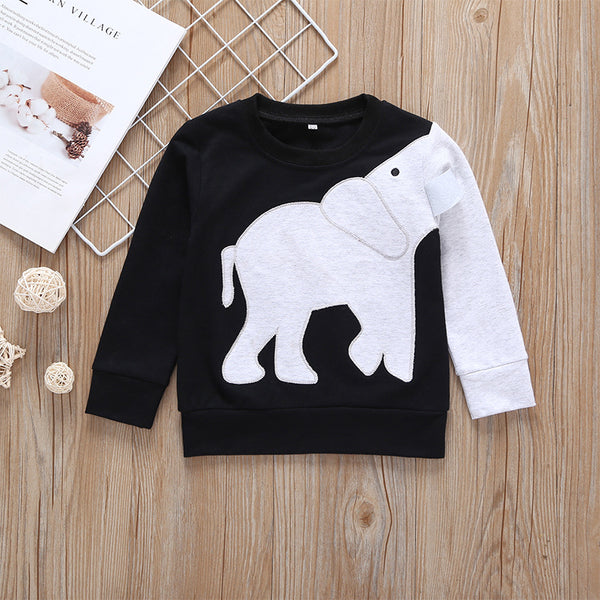 Elephant Style Spring Baby Toddler Boys Jumper T-shirt
