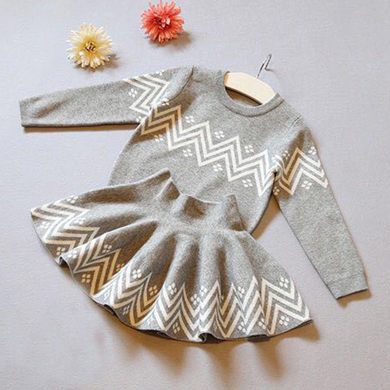 Fashion 2-Piece Toddler Little Girl Crochet Sweater Matching Skirt