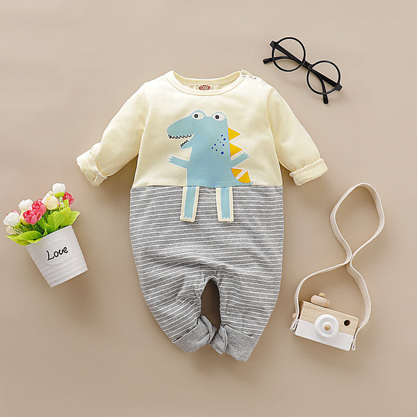 Long Sleeve Cute Dinosaur Jumpsuit